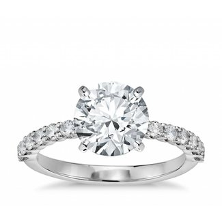 Diamond ROUND BRILLIANT CUT DIAMOND RING 1.06CT / SI2 / H (SET IN RING ALREADY)