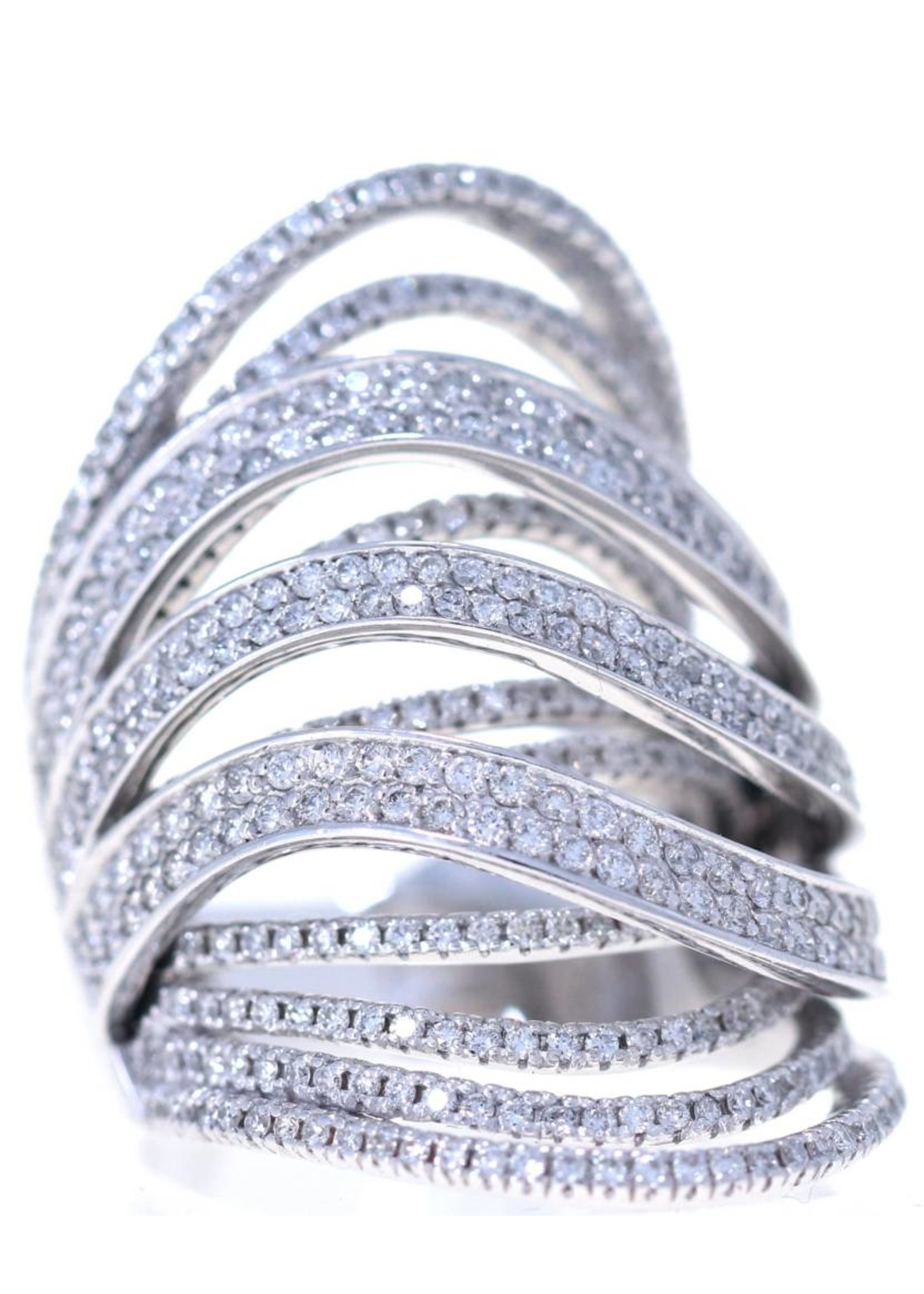 Jewellery LADYS WHITE GOLD FANCY DESIGN DIAMOND RING