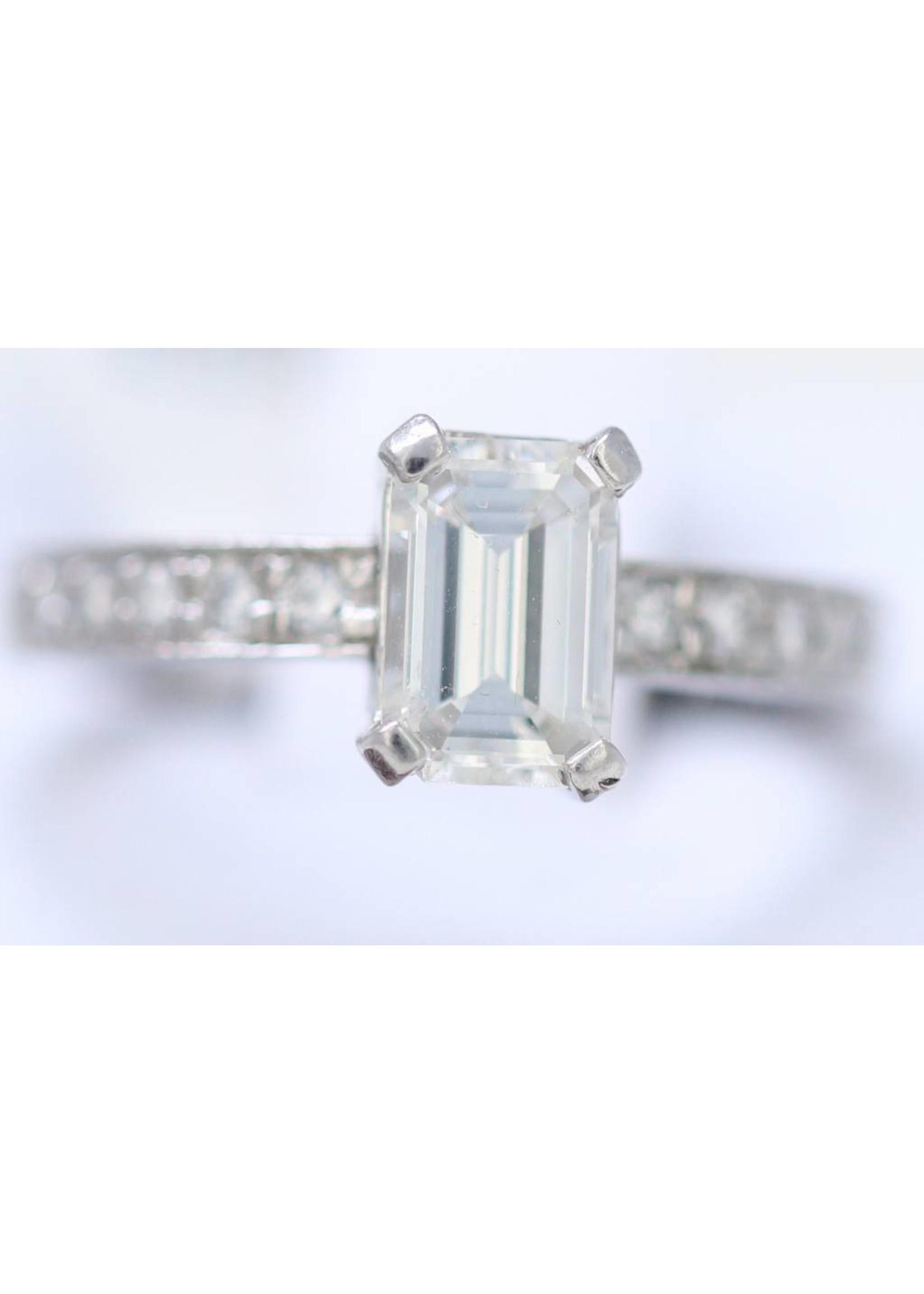 Jewellery PLATINUM EMERALD RING 1.03CT I VI1