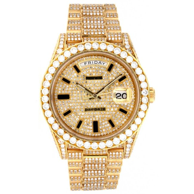 ca9ba4fb6e69 ROLEX DAY DATE 40MM ICED OUT (2016 B+P) - WatchFinder