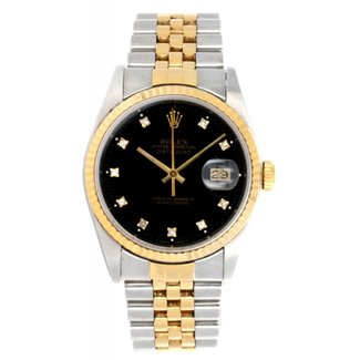 Rolex ROLEX DATEJUST 36MM (1988) FACTORY DIAMOND DIAL