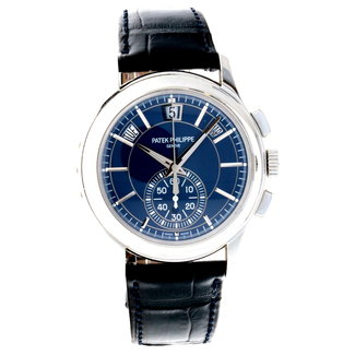 Patek Philippe PATEK PHILIPPE Complications Blue Dial Annual Calendar Platinum Men's Watch Item No. 5905P-001 (2017 B+P)