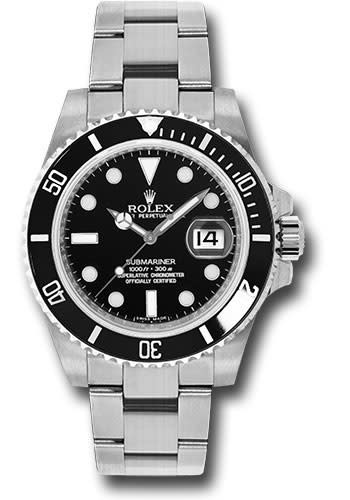 ROLEX SUBMARINER DATE (2015 B+P) LIKE NEW TAX ALL IN PRICE