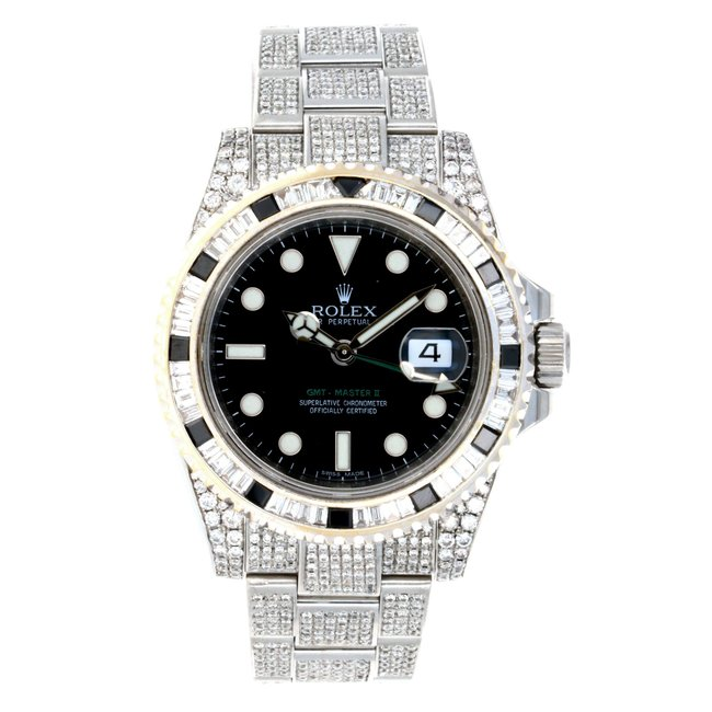 ROLEX GMT MASTER II ICEDOUT (G SERIAL)