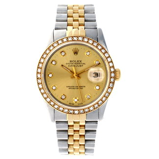Rolex ROLEX DATEJUST 36MM (1993) WITH AFTERMARKET DIAMONDS
