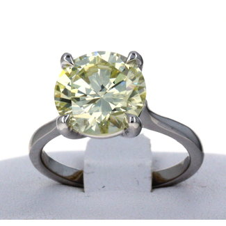 Diamond 4.01 CT ROUND BRILLIAN CUT DIAMOND RING VVS-2/ S-T / VG