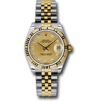 Rolex ROLEX (1995) GOLD DIAL Factory Diamond