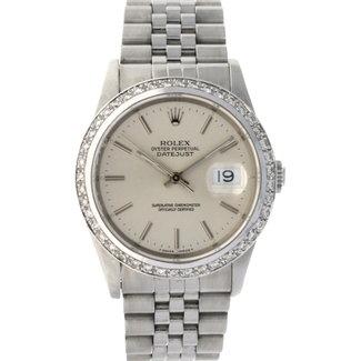 Rolex ROLEX DATEJUST 36MM (1989) AFTERMARKET DIAMOND BEZEL