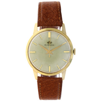 MARVIN MARVIN VINTAGE 18K YELLOW GOLD WATCH