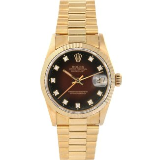 Rolex ROLEX DATEJUST 31MM (1989) #68278 FACTORY DIAMONDS