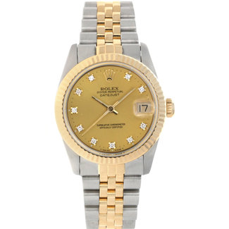 Rolex ROLEX DATEJUST 31MM (1990) FACTORY DIAMOND DIAL