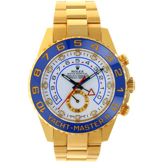 Rolex Rolex Style No: 116688 Yellow Gold Yacht-Master II 44 Watch - White Dial