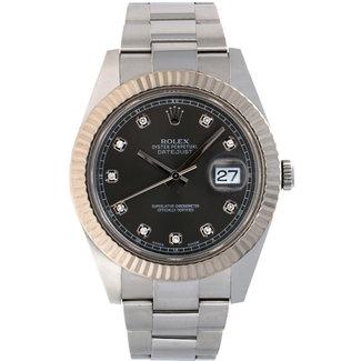 Rolex Rolex Datejust II 41 Silver Diamond Dial #116334 (2012)