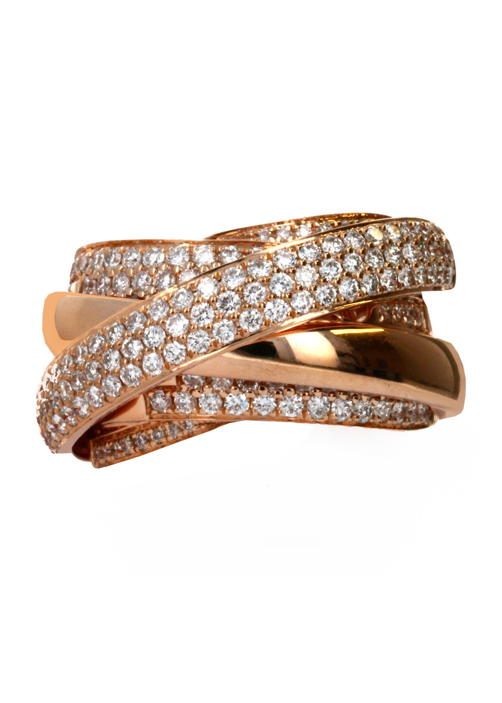 Jewellery ROSE GOLD BRIDE RING WITH DIAMONDS