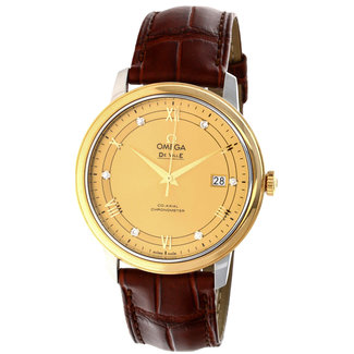Omega Omega De Ville Prestige Automatic Champagne Dial Men's Watch Item No. 424.23.40.20.08.001