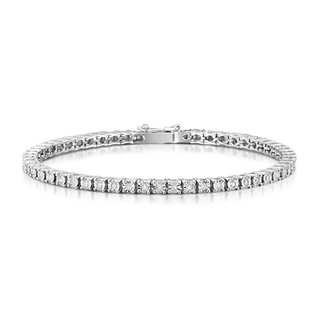 Jewellery 9CT TENNIS BRACELET VS-SI G .7PT EACH