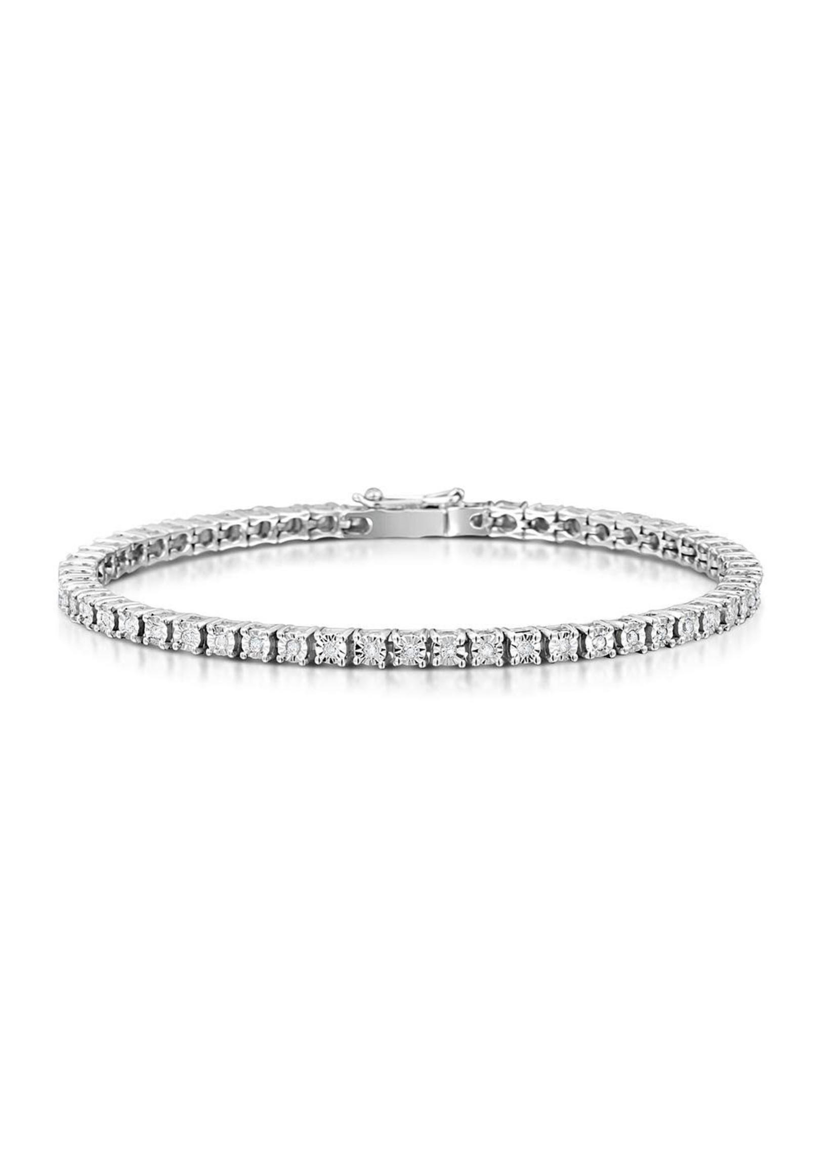 Jewellery 9CT TENNIS BRACELET VS-SI G .7PT EACH