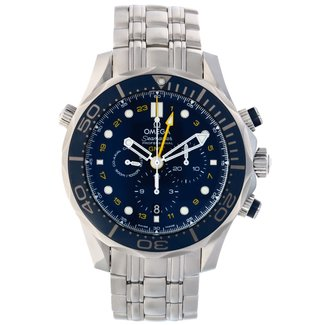 Omega OMEGA SEAMASTER DIVER 300M CO‑AXIAL GMT CHRONOGRAPH 44 MM (B+P)