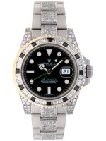 Rolex Watches ROLEX GMT MASTER II ICEDOUT (G SERIAL)