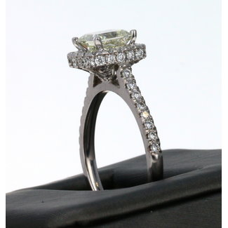 1.35 PRINCESS CUT I1 G COLOR 14K LADIES DIAMOND RING.