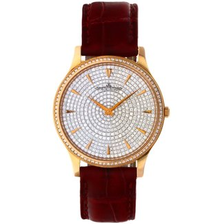 Jaeger Le Coultre JAEGER-LECOULTRE MASTER ULTRA THIN PINK GOLD FULL DIAMOND