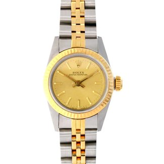 Rolex ROLEX 1989 LADIES OYSTER PERPETUAL 2-TONE