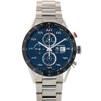 Tag Heuer TAG HEUER Carrera Calibre 1887 Automatic Chronograph Grey Dial Stainless Steel Men's Watch