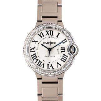 Cartier CARTIER BALLON BLEU #3004 36MM WHITE GOLD