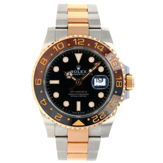 Rolex Rolex Everose Rolesor GMT-Master II 40 Watch - Black And Brown Root Beer Bezel - Black Dial - Oyster Bracelet