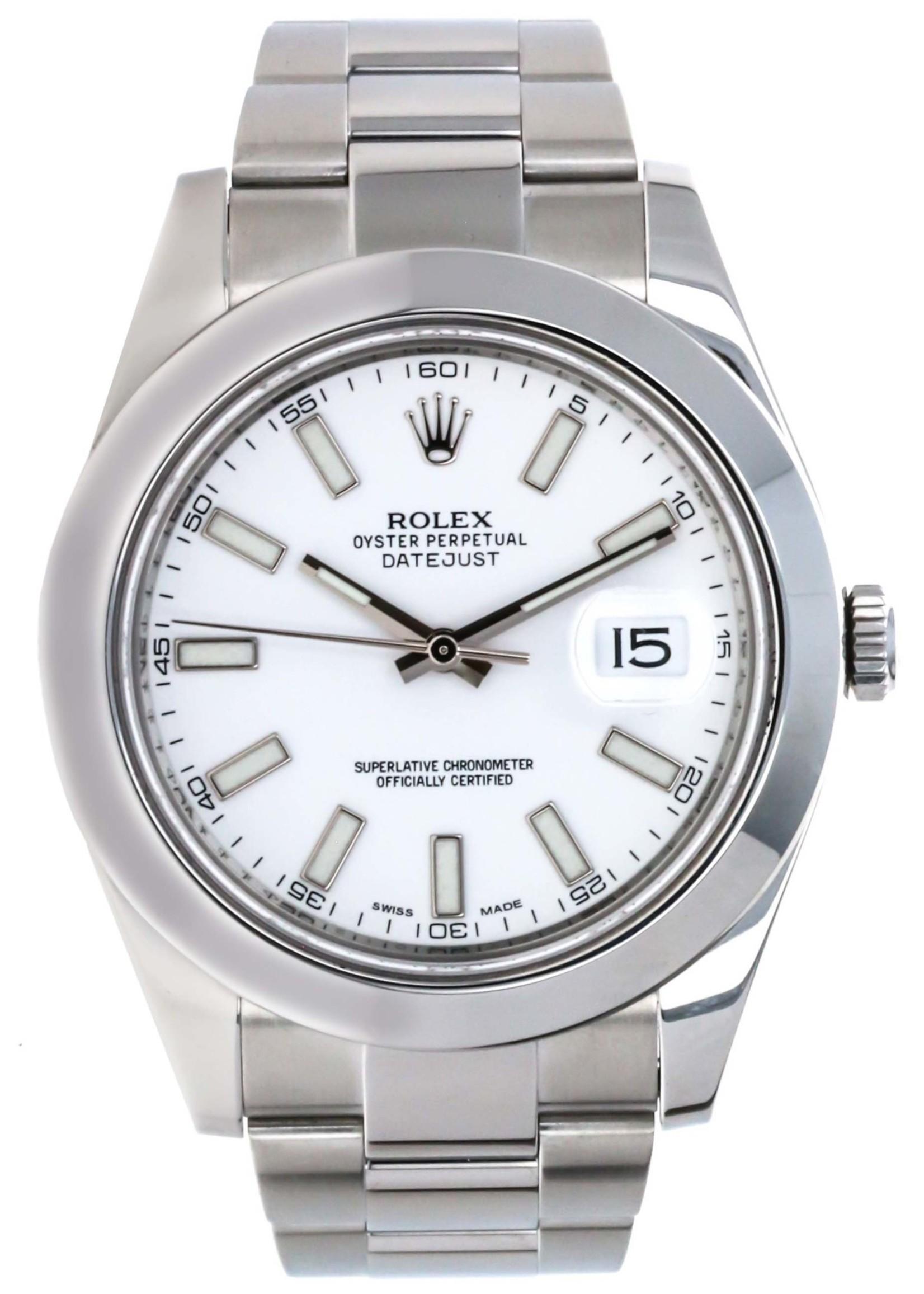 Rolex Rolex Datejust II 2015 White Dial (B+P)#116300