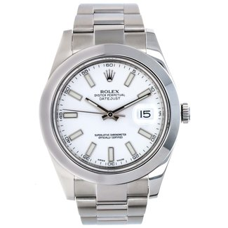 Rolex Rolex Datejust II White Dial Steel Men's Watch 116300 Box Card - 2015
