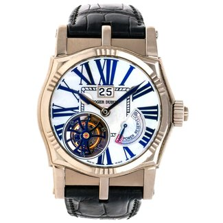 ROGER DUBUIS Roger Dubuis Sympathy 43mm Tourbillon - White Gold on Strap with MOP Dia