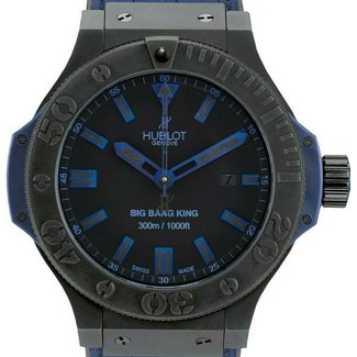 Hublot Hublot Big Bang King All Black Blue 48mm In Black Ceramic and Rubber Strap. Great Condition