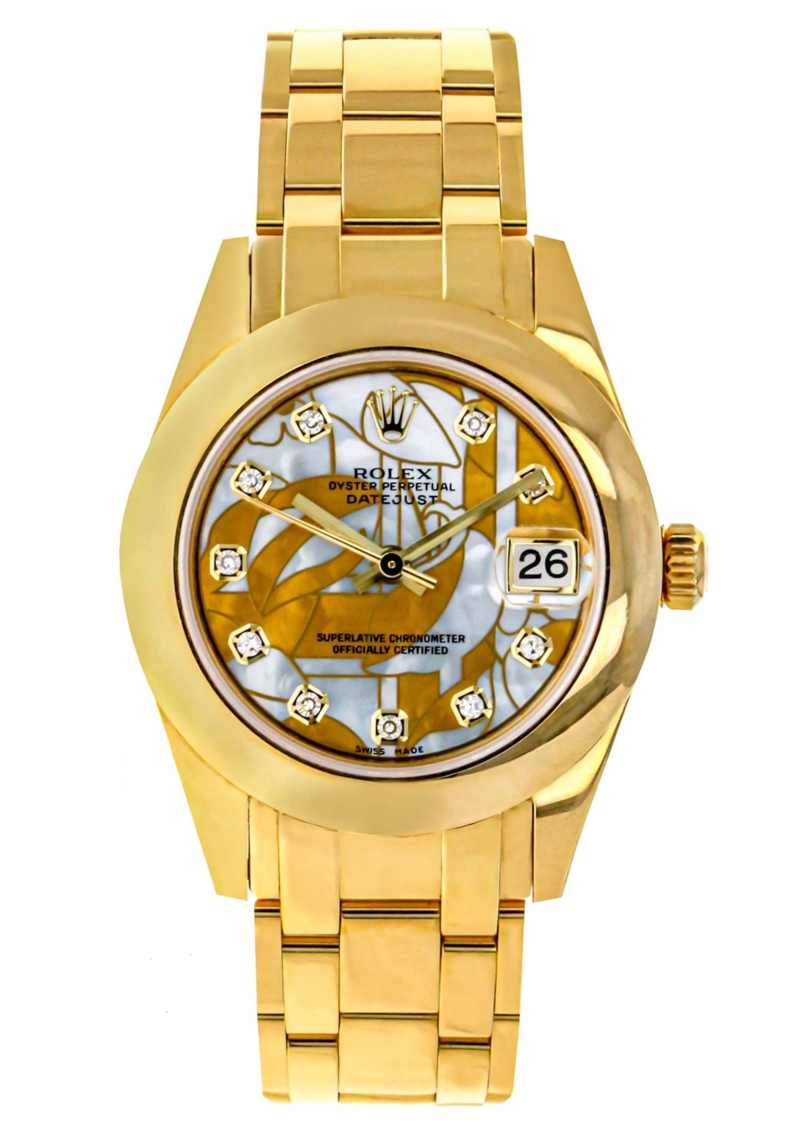 Rolex Watches Rolex Pearl Master 34MM Watch - Polished Bezel - Goldust Dream Mother-Of-Pearl Diamond Dial