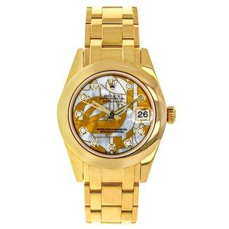Rolex Rolex Pearl Master 34MM Watch - Polished Bezel - Goldust Dream Mother-Of-Pearl Diamond Dial
