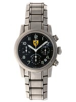 GIRARD PERREGAUX Girard-Perregaux, Ferrari Automatic Chronograph, Stainless Steel, Ref. 8020, Circa 1990 NO BOX OR PAPERS