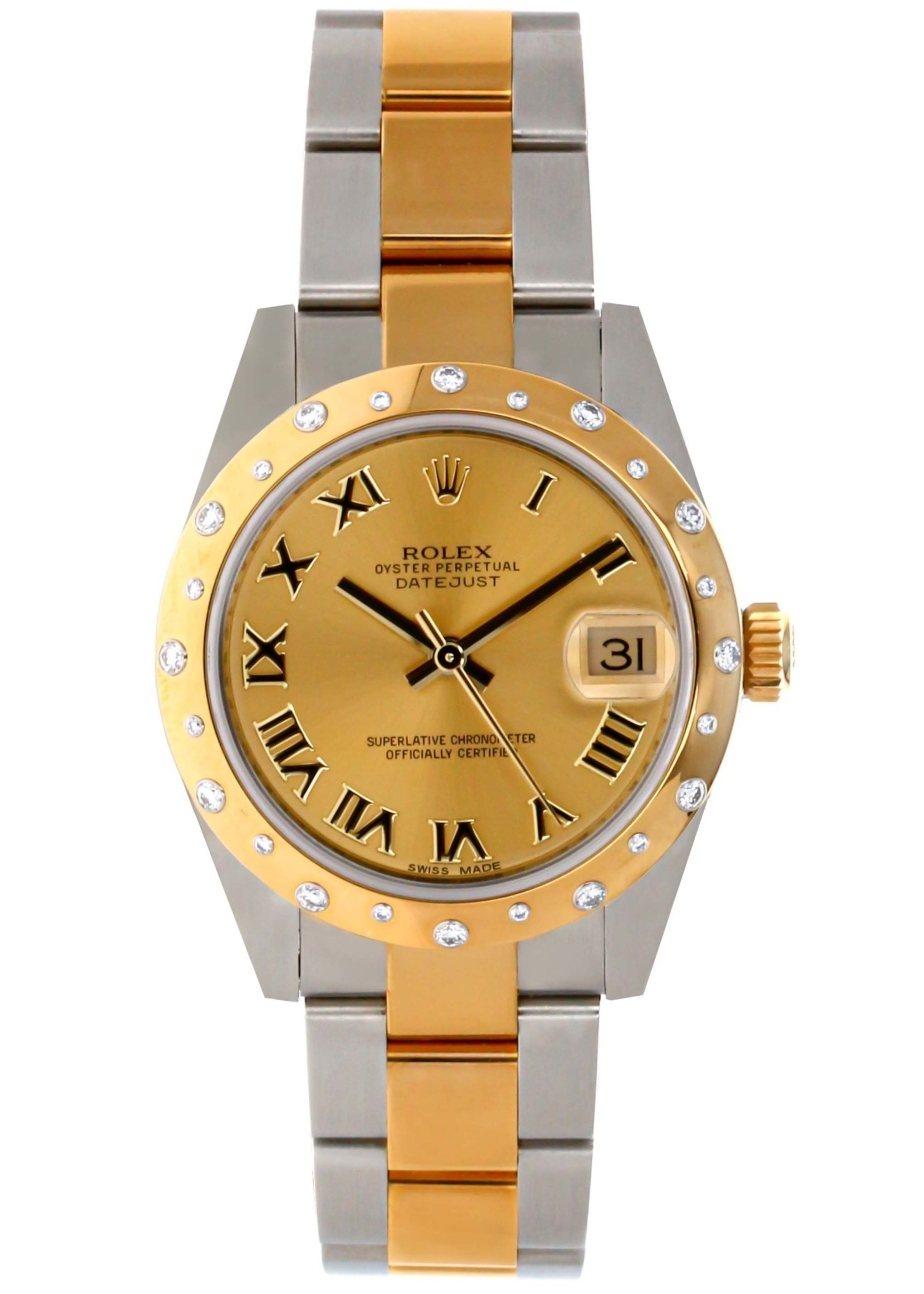 Rolex ROLEX DATEJUST 31MM #178343 (NEVER WORN)(B+P)