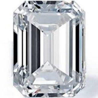 Jewellery 6.04CT EMERALD DIAMOND I SI2 EXCELLENT CUT