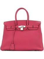 HERMES Hermès Birkin 35 Rouge Casaque Epsom Bag PHW 2013 Box and Papers