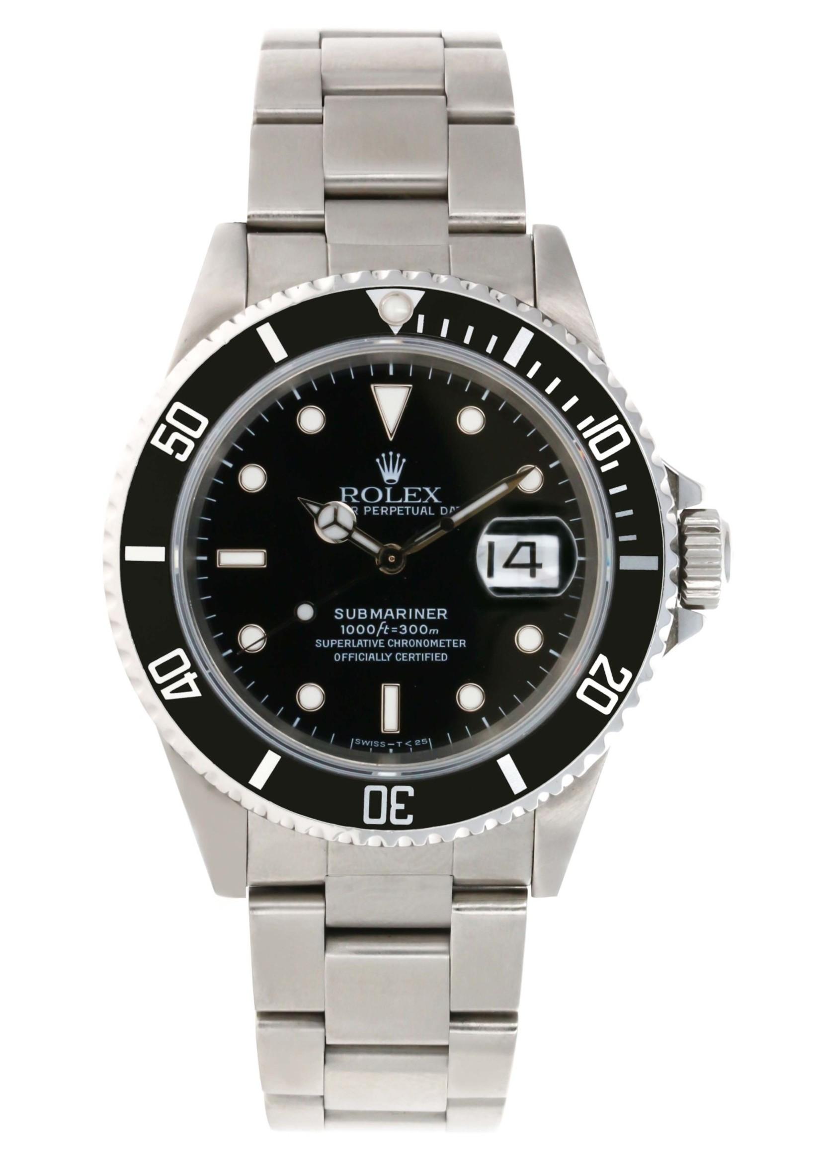 Rolex ROLEX SUBMARINER DATE BLACK 40MM(1995)  #116610LN