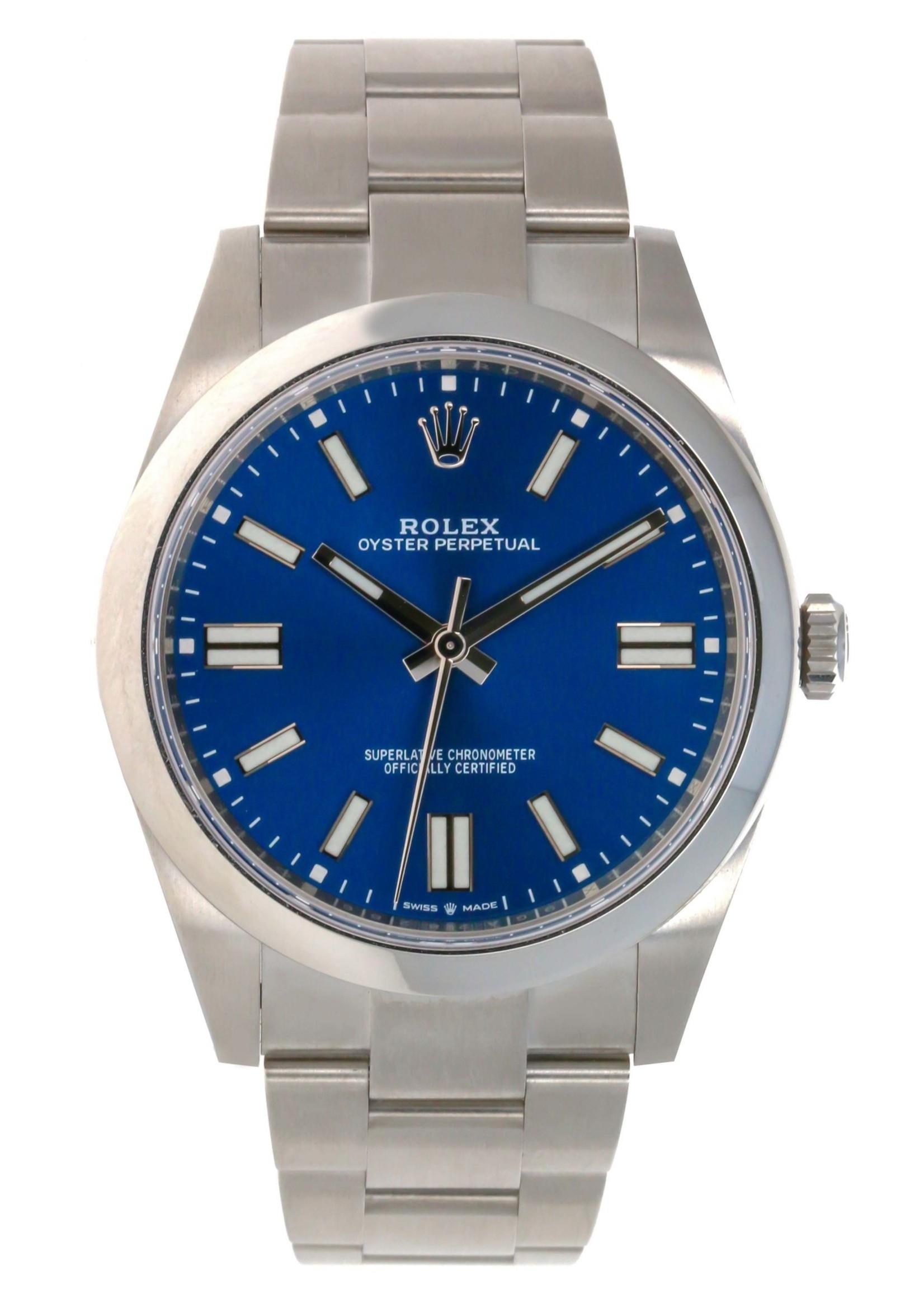 Rolex ROLEX OYSTER PERPETUAL 41MM (2021 B+P) #124300