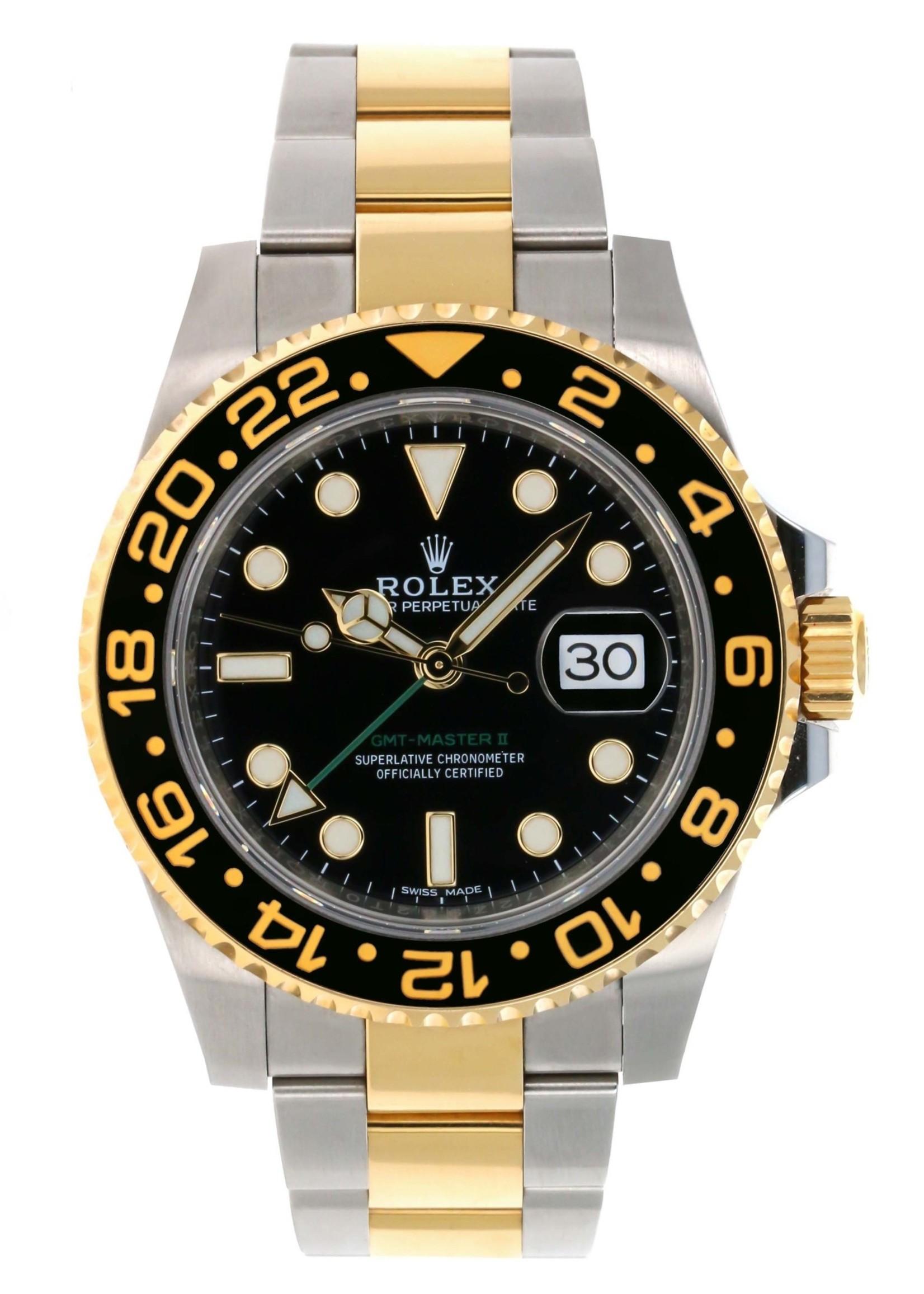 Rolex Watches ROLEX GMT MASTER II 40MM (2017 B+P) #116713LN