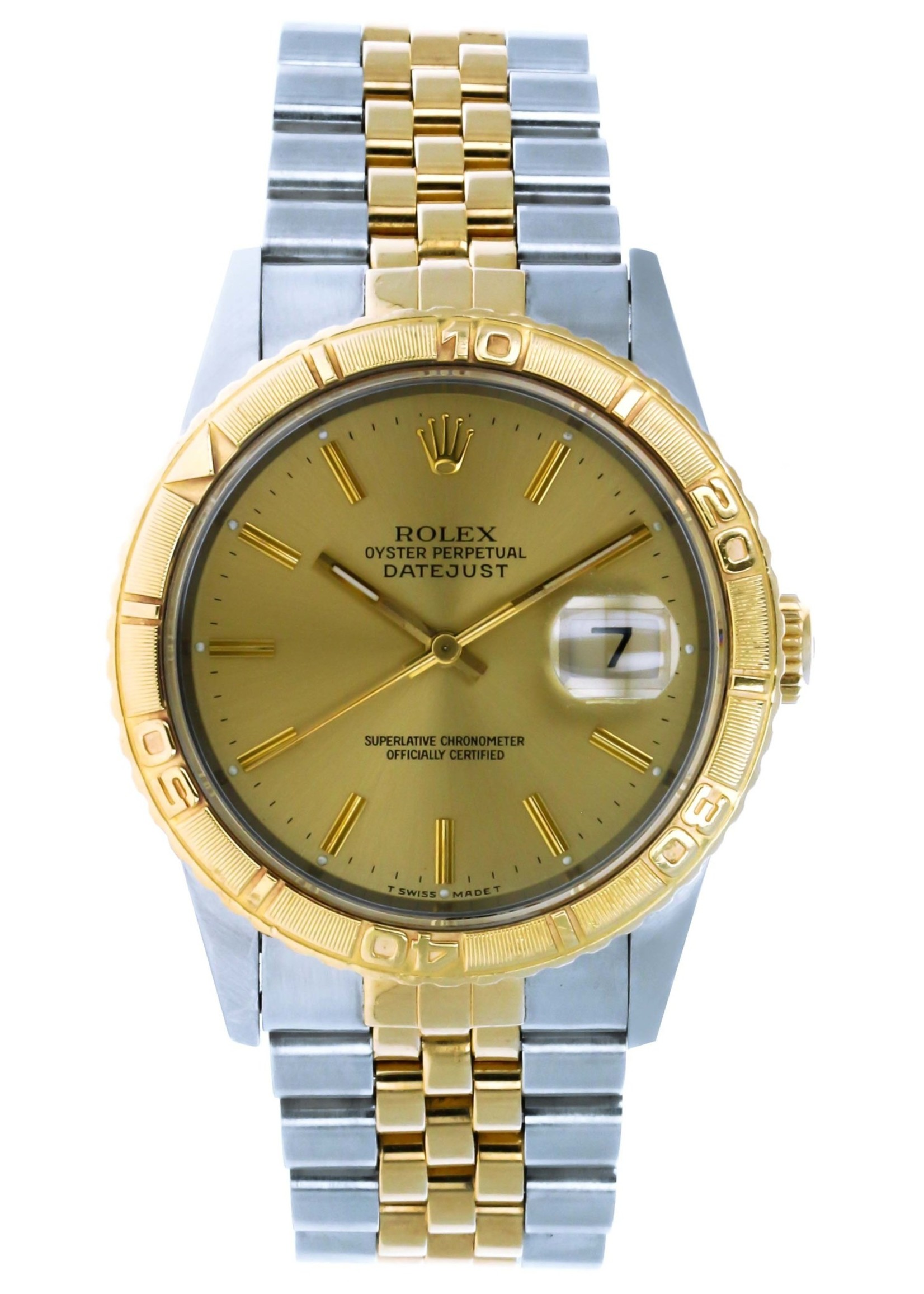 Rolex ROLEX DATE JUST TURN-O-GRAPH 36MM #16263
