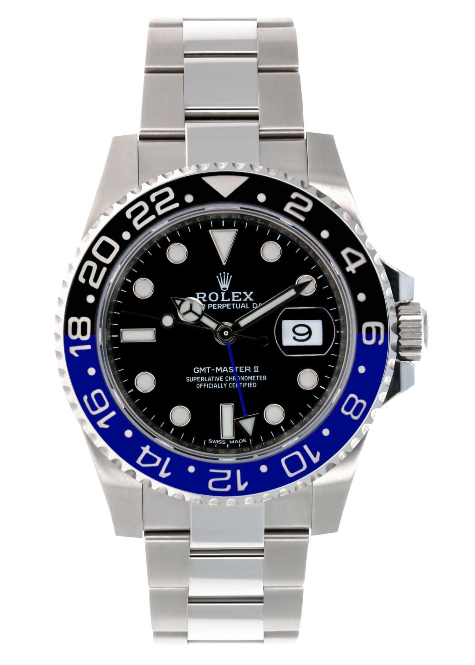 Rolex ROLEX GMT MASTER II (2018 B+P) #116710BLNR