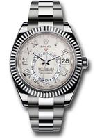 Rolex ROLEX SKY-DWELLER WHITE GOLD IVORY SATIN 42MM #326939