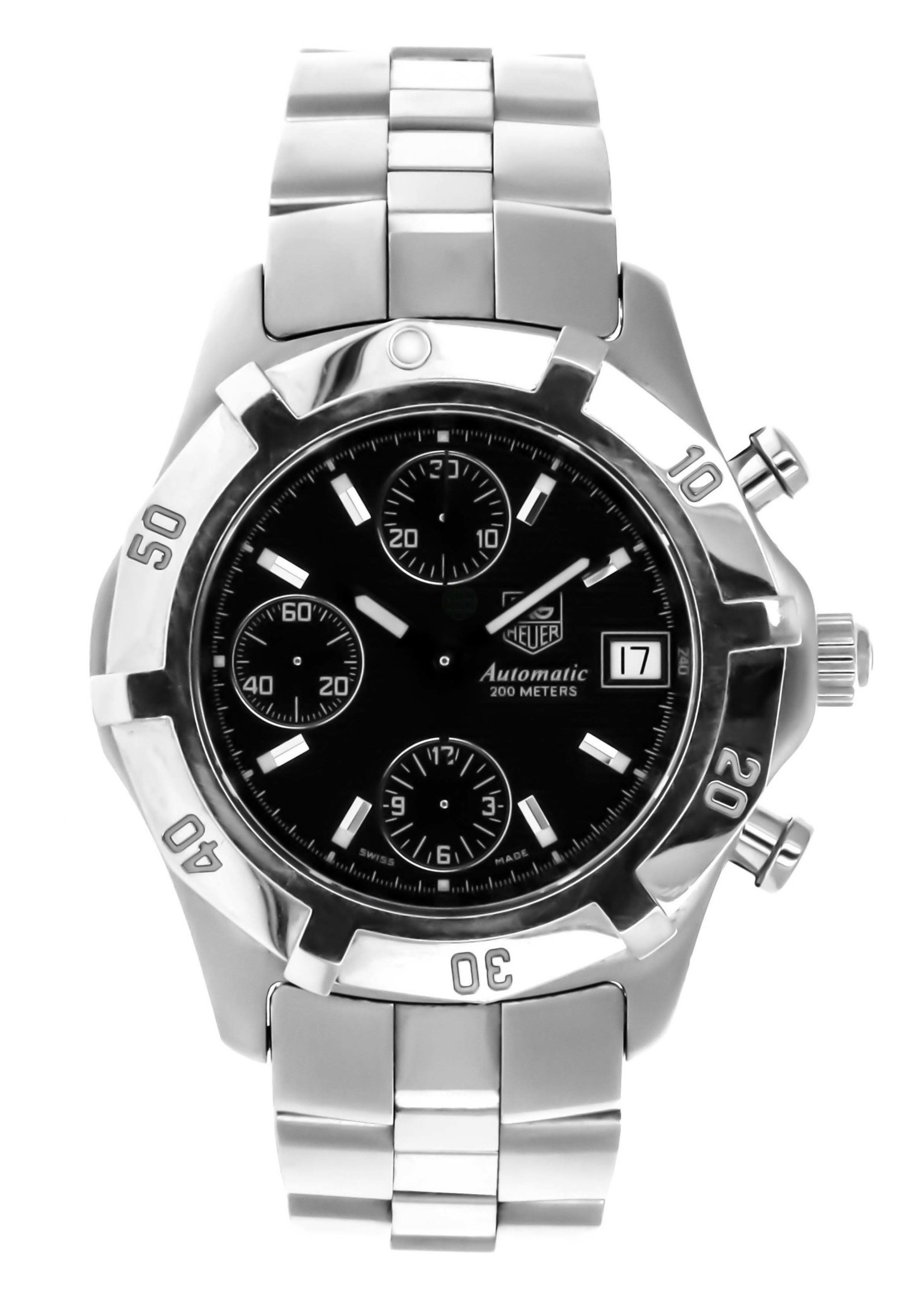 Tag Heuer Watches TAG HEUER 2000 38MM AUTOMATIC BLACK DIAL #CN2111-0