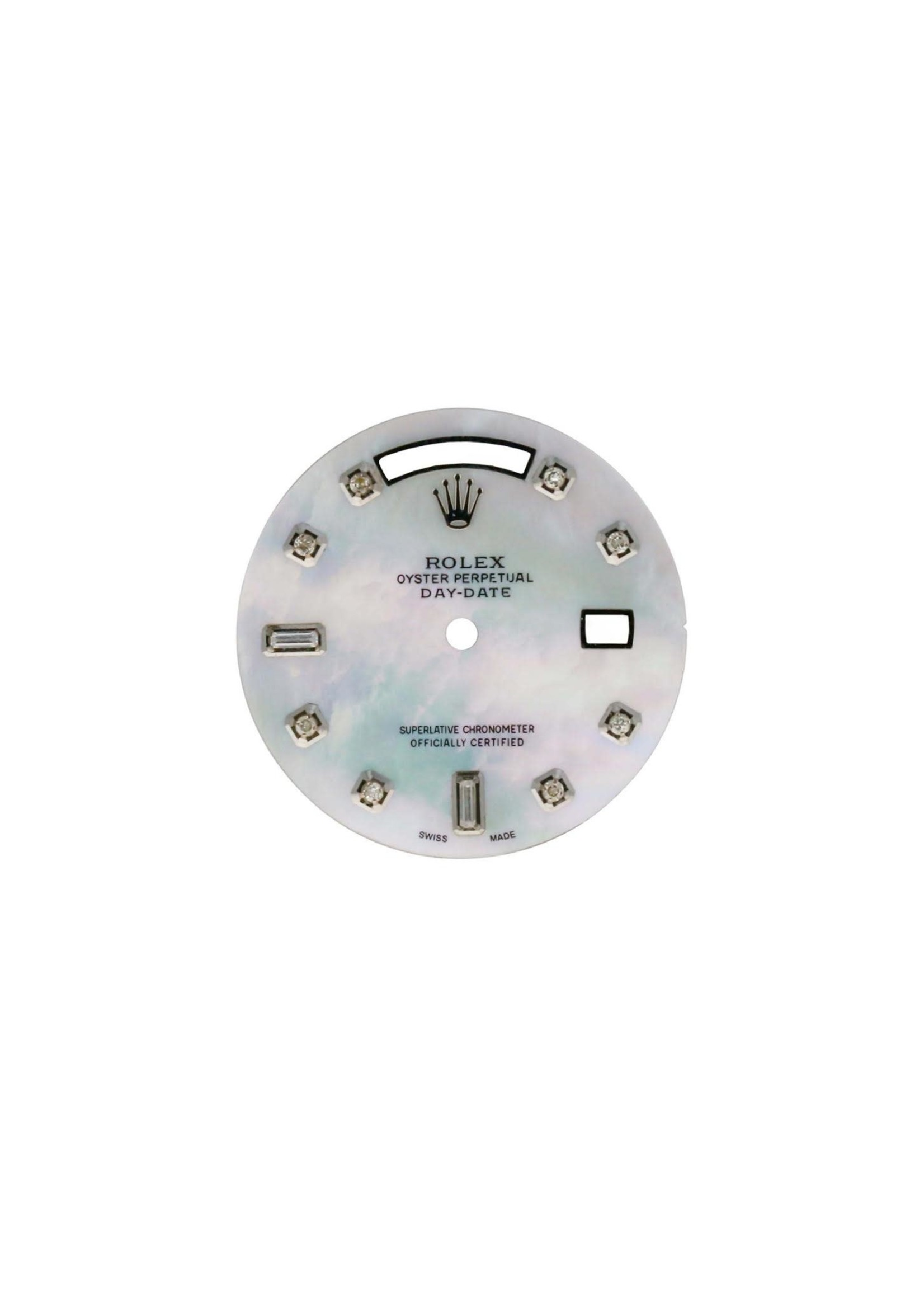 Rolex CUSTOM ROLEX DAY DATE 36MM DIAMOND DIAL MOTHER OF PEARL