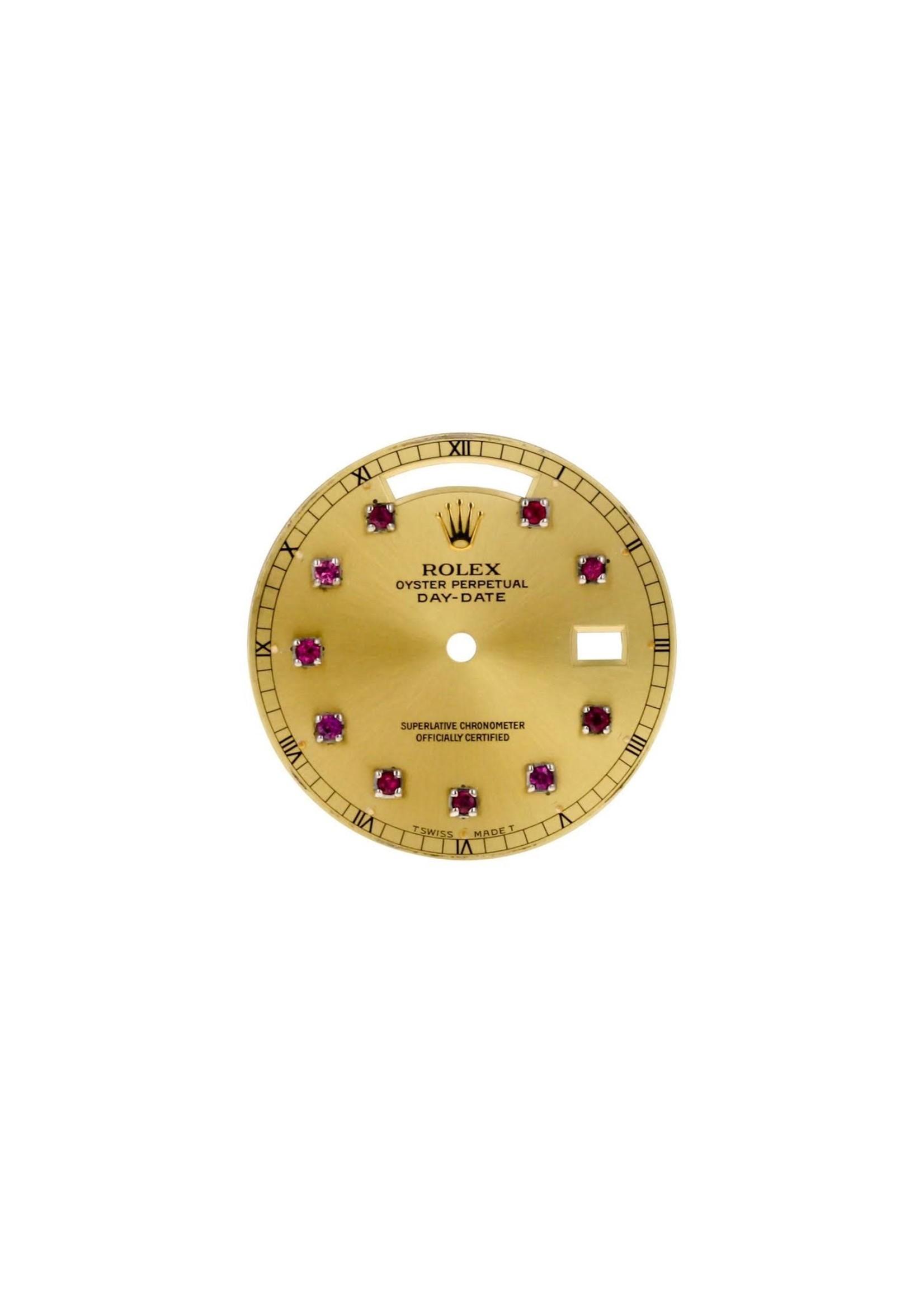 Rolex CUSTOM ROLEX DAY DATE 36MM RUBY DIAL