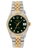 Rolex ROLEX DATEJUST 31MM RARE GREEN FACTORY DIAL  #278273