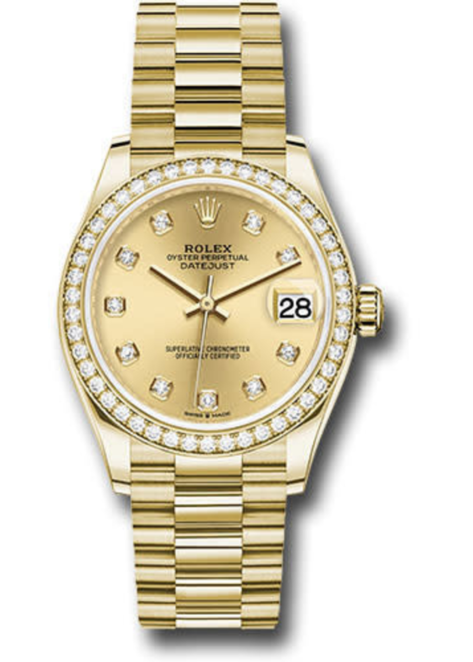 Rolex ROLEX DATEJUST 31MM 1990 (B+P) PRESIDENT #